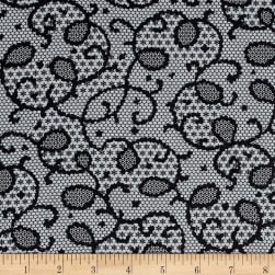 Verna Mosquera Candelabra Midnight Lace Cloud Fabric