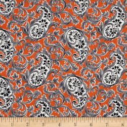 Verna Mosquera Candelabra Paisley Potion Orange Fabric