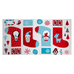 Kaufman Jingle 4 Stocking 24 In. Panel Winter