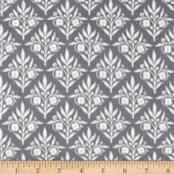 Jackie Double Gauze Sweet Scrolls Gray Fabric