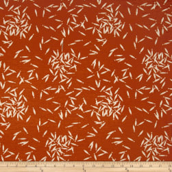 Birch Organic Maritime Interlock Knit School Of Fish Orange