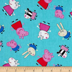 Peppa Pig and Friends Aqua Fabric