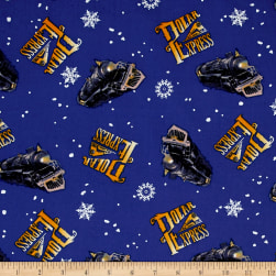 Polar Express Toss Blue Fabric