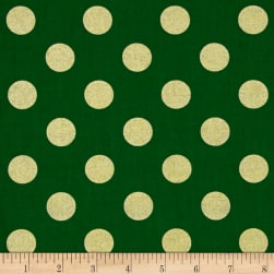 Michael Miller Holiday Glitz Quarter Dot Spearmint Fabric