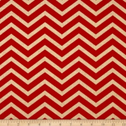 Michael Miller Holiday Glitz Sleek Chevron Cherry Fabric