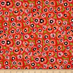Michael Miller Valencia Petite Poppy Olive Fabric
