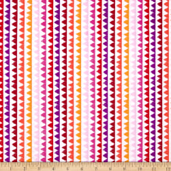 Michael Miller Pets A'Plenty Zipper Stripe Coral Fabric