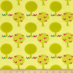 Riley Blake Cotton Jersey Knit Acorn Forest Citron