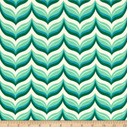 Riley Blake Cotton Jersey Knit Acorn Leafy Chevron