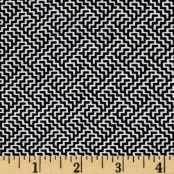 Telio Bengaline Jacquard Abstract Print Black/White