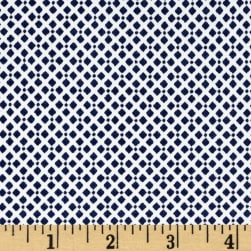 Telio Harlequin Stretch Cotton Sateen Diamond Print Blue
