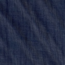 Telio Cross Hatch Tencel Denim Chambray Blue Fabric