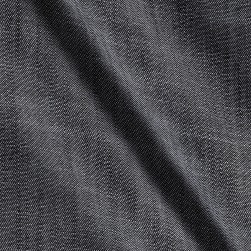 Telio Cross Hatch Tencel Denim Chambray Black Fabric