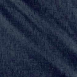 Telio Washed Linen Navy Fabric