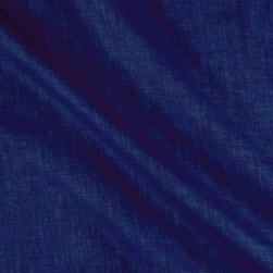 Telio Washed Linen Dark Indigo Blue Fabric