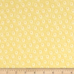 Riley Blake Jersey Knit Tree Party Mini Floral Yellow