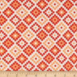 Riley Blake Cotton Jersey Knit Woodland Geometric Coral