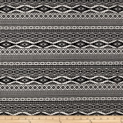 Peachskin Aztec Diamond Print Black/White
