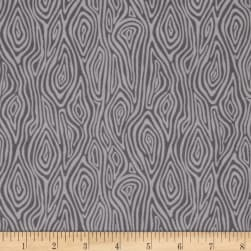 Kaufman Burly Beavers Flannel Bark Fog Fabric