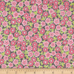 Kaufman Cozy Cotton Flannel Flower Pink Fabric