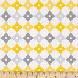 Kaufman Cozy Cotton Flannel Geo Plaid Yellow Fabric