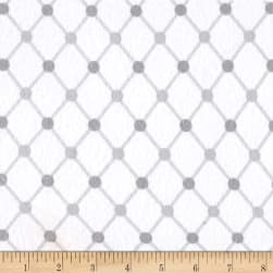 Kaufman Cozy Cotton Flannel Trellis White Fabric
