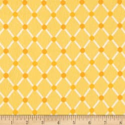 Kaufman Cozy Cotton Flannel Trellis Yellow Fabric