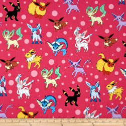 Kaufman Pokemon Collage Pink