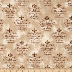 Kaufman Vineyard Collection Le Domaine Natural Fabric