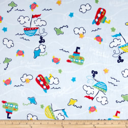 Minky Sail Away Light Blue Fabric