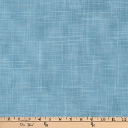 Kaufman Quilter's Linen Metallic Water Fabric