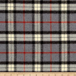 Kaufman Mammoth Flannel Large Plaid Grey Fabric