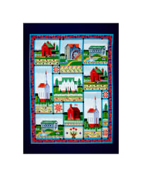 Jim Shore Village Farm 35 In. Panel Blue