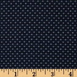 Kaufman Sevenberry Petite Foulard Crosses Navy