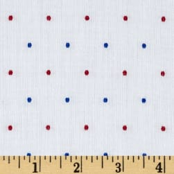 Kaufman Sailors Cotton Dobby Dots Fiesta