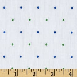 Kaufman Sailors Cotton Dobby Dots Spring Fabric