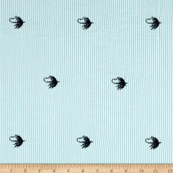 Kaufman Seersucker Embrioderies Fishhook Palm Fabric