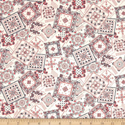 Kaufman Sevenberry Lawn Bandana Patch White Fabric