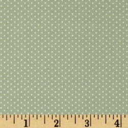 Kaufman Sevenberry Petite Basics Mini Dot Sage Fabric