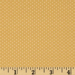 Kaufman Sevenberry Petite Basics Mini Dot Wheat Fabric