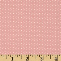 Kaufman Sevenberry Petite Basics Mini Dot Pink Fabric