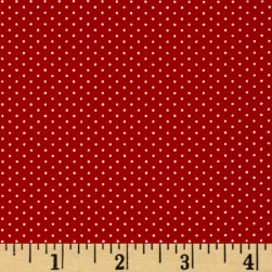 Kaufman Sevenberry Petite Basics Mini Dot Red Fabric