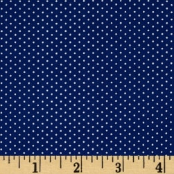 Kaufman Sevenberry Petite Basics Mini Dot Denim Fabric