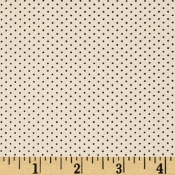 Kaufman Sevenberry Petite Basics Mini Dot Espresso Fabric