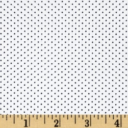 Kaufman Sevenberry Petite Basics Mini Dot Marine Fabric