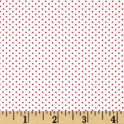Kaufman Sevenberry Petite Basics Mini Dot Cherry Fabric