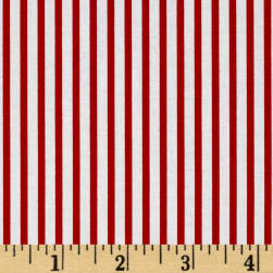 Kaufman Sevenberry Petite Basics Mini Stripe Red Fabric