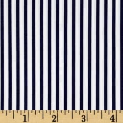 Kaufman Sevenberry Petite Basics Mini Stripe Navy Fabric