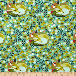 Tula Pink Chipper Fox Nap Mint Fabric