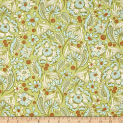 Tula Pink Chipper Wild Vines Mint Fabric